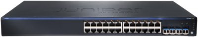 EX2200-24T-4G-DC Juniper EX2200, 24-Port 10/100/1000 BaseT with 4 SFP Uplink Ports (Optics not Included) and Internal DC Power Supply