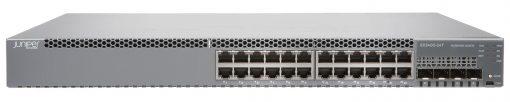 EX3400-24T-DC Juniper Networks EX3400 ES 24-port 10/100/1000BaseT, 4 x 1/10G SFP/SFP+, 2 x 40G QSFP+, redundant fans, front-to-back airflow, 1 DC PSU JPSU-150-DC-AFOincluded (optics sold separately)