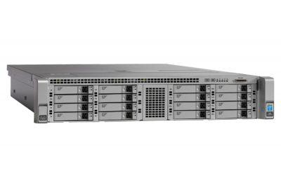 UCS-SPR-C240M4-BB1 CISCO UCS C240M4SX W/1XE52609V4,1X16GB,MRAID,1X1200W,32G SD,RAILS