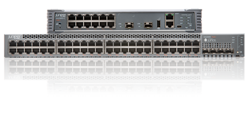EX2300-48P Juniper Networks EX2300 ES 48-port 10/100/1000BaseT PoE+, 4 x 1/10G SFP/SFP+ (optics sold separately)