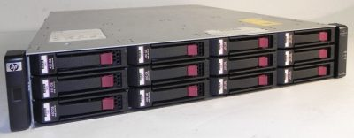 AJ750A -TP HP MSA2000 Dual I/O 3.5 inch 12 Drive Enclosure (w/ two .6m SAS cables)