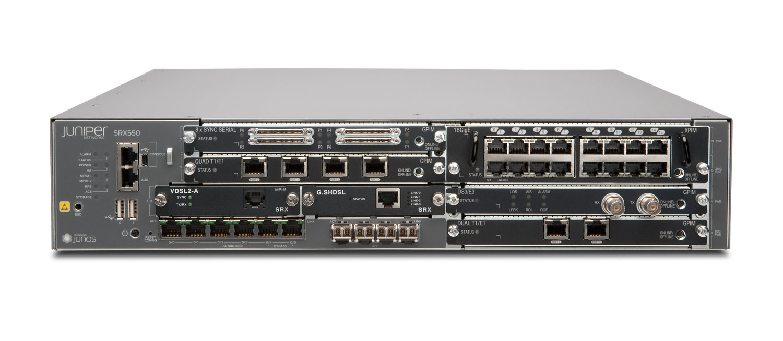 SRX550-645DP-M Juniper SRX550 Services Gateway with 4G DRAM, 8G CF and 1 DC PSU