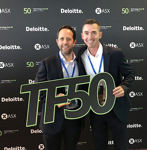Bill and Nick at the Deloitte Technology Fast 50 Awards 2017