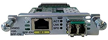 EHWIC-1GE-SFP-CU (Refurb) EHWIC 1-Pt dual mode SFP(100M/1G) or GE (10M/100M/1G)