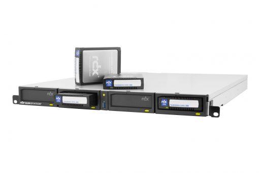 8920-RDX RDX QuikStation 4 RM, 4-Bay, 2x 1Gb Ethernet attached Removable Disk Array, 1U Rackmount