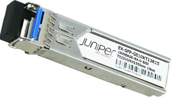 EX-SFP-GE10KT13R15 SFP 1000Base-BX Gigabit Ethernet Optics, Tx 1310nm/Rx 1550nm for 10km Transmission