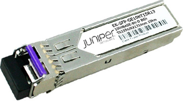 EX-SFP-GE10KT15R13 SFP 1000Base-BX Gigabit Ethernet Optics, Tx 1550nm/Rx 1310nm for 10km Transmission