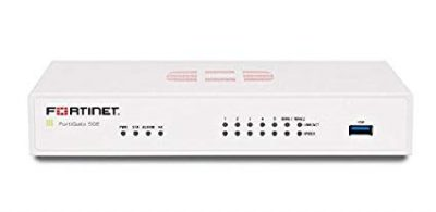 FG-50E FortiGate w/ 7 x GE RJ45 ports (Including 2 x WAN port, 5 x Switch ports), Max managed FortiAPs (Total / Tunnel) 10 / 5