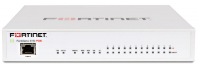 FG-81E-POE FortiGate 81E-PoE 16 x GE RJ45 ports (including 2 x WAN ports, 1 x DMZ port, 1 HA port, 12 x PoE ports). 128GB onboard storage. Max managed FortiAPs (Total/Tunnel) 32/16