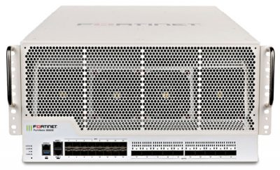 FG-3980E FortiGate 3980E w/ 10x 100GE QSFP28 slots and 16x 10GE SFP+ slots, 2 x GE RJ45 Management Ports, SPU NP6 and CP9 hardware accelerated, and 3 AC power supplies