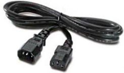 47C2487 1.2m, 10A/100-250V, 2 Short C13s to Short C14 Rack Power Cable