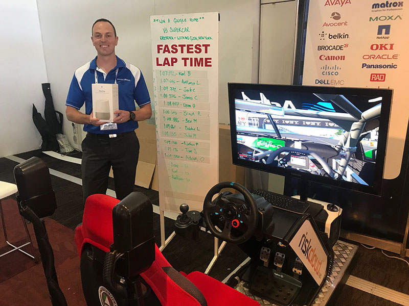 Touchpoint Technology at MilCIS 2018 - V8 Supercars simulator winner