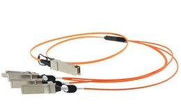 FG-TRAN-QSFP-4XSFP Fortinet 40G QSFP+ Parallel Breakout MPO to 4xLC conectors, 1m reach, transceivers not included
