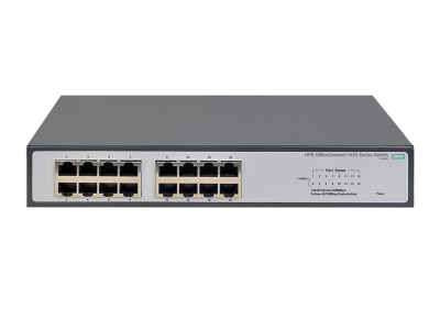 JH016A HPE 1420 16G Switch, 16 x GIG Ports, Non-PoE, Unmanaged, Limited Lifetime Warranty