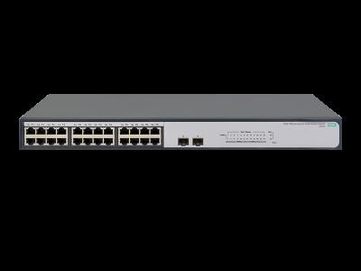 JH017A HPE 1420 24G 2SFP Switch, 24 x GIG Ports + 2 x SFP Ports, Unmanaged, Limited Lifetime Warranty
