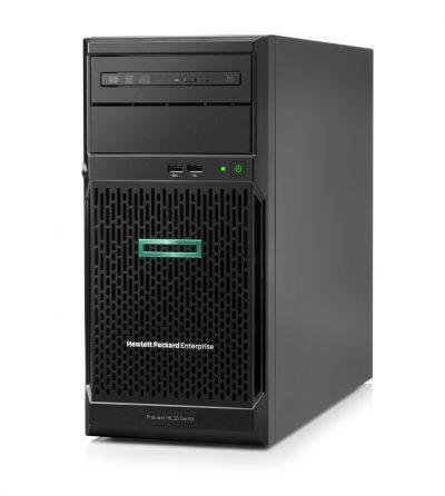 P06781-375 HPE ML30 Gen10 E-2124(1/1), 8GB(1/4), SATA-LFF-3.5-NHP(0/4), S100i, No CD, Tower, 1-year Warranty