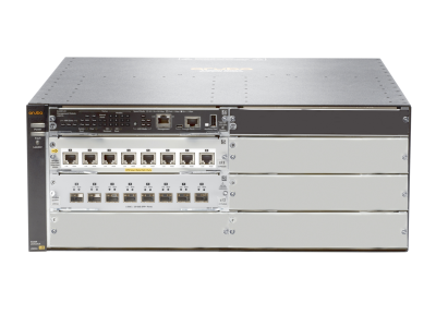 JL002A Aruba 5406R 8XGT PoE+ / v3 zl2 Switch Includes 8-Port PoE+ zl2 & 8P 10GbE SFP+ Modules, No Power Supply Unit