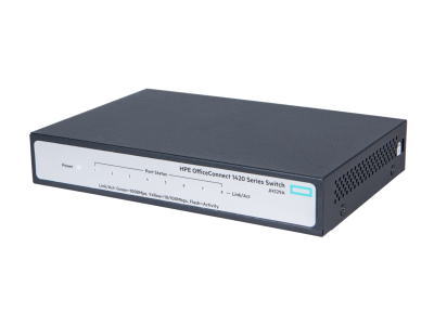 JH329A HPE 1420 8G Switch, 8 x GIG Ports, Fanless, Unmanaged, Limited Lifetime Warranty