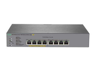 J9982A HPE 1820 8G PoE+ (65W) Switch, 4 x GIG PoE+ & 4 x GIG Ports, Layer 2, Web-Managed, Limited Lifetime Warranty