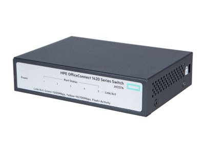 JH327A HPE 1420 5G Switch, 5 x GIG Ports, Fanless, Unmanaged, Limited Lifetime Warranty