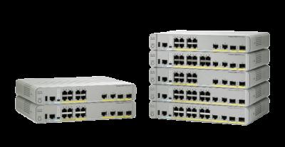WS-C2960CX-8PC-L Cisco Catalyst 2960-CX Switch, 8 x GE PoE+, uplinks: 2 x 1G SFP, 2 x 1G copper LAN Base
