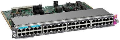 WS-X4748-12X48U+E Cisco Catalyst 4500E Series, 48-Port UPoE w/ 12 x Multigigabit, 36 x 10/100/1000 (RJ-45)