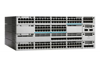 WS-C3850-12S-E Cisco Catalyst 3850 Switch, 12 x SFP Ethernet Ports, 350WAC Power Supply, 1 RU, IP Services Feature Set