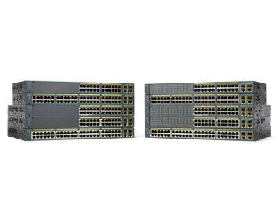 WS-C2960+24LC-L Cisco Catalyst 2960-Plus, 24 x 10/100 (8 x PoE+), 2 x 1000BASE-T/SFP, LAN Base