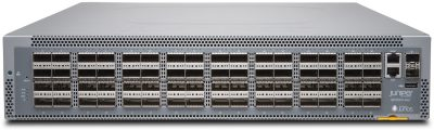 QFX5210-64C-AFI Juniper Networks QFX5210, 64 QSFP+/QSFP28 Ports, Reduced Latency, Redundant Fans, 2 AC Power Supplies, Back-to-Front Airflow