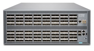 QFX5220-128C-AFO Juniper Networks QFX5220 (Hardware Only; Software Services Sold Separately), 128 QSFP+/QSFP28 Ports, Redundant Fans, 4 AC Power Supplies, Front-to-Back Airflow
