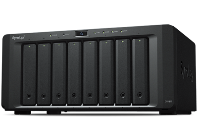 "DS1817.2GB Synology DiskStation DS1817+2GB(RAM) 8-Bay 3.5"" Diskless 4xGbE NAS (Tower) (SMB), Intel Atom Quad Core 2.4GHz, 2GB RAM, 4xUSB3, 2x eSATA, Scalable,3YR"