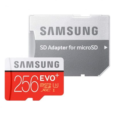 MB-MC256DA/APC Samsung Micro SDHC 256GB EVO Plus /w Adapter UHS-1 Class 10, up to 95MB/s read, 90MB/s Write, 10 Years Limited Warranty