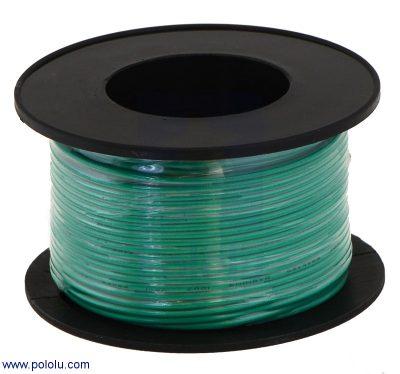 POLOLU-2615 Stranded Wire: Green, 28 AWG, 90 Feet