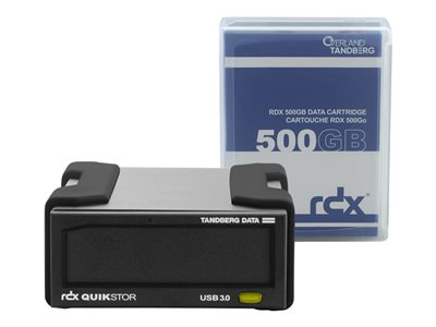 8863-RDX Tandberg Data RDX QuikStor External Drive Kit - 500GB USB3+ 8863-RDX