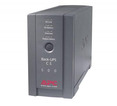 BK500BLK APC Back-UPS - 120V, 500VA, 300-Watt, 6-Outlet, Black BK500BLK